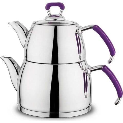 Théière turc en inox pour thé turc